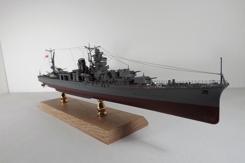 1/350(ハセガワ)lightcruiserYAHAGIディスプレーモデル