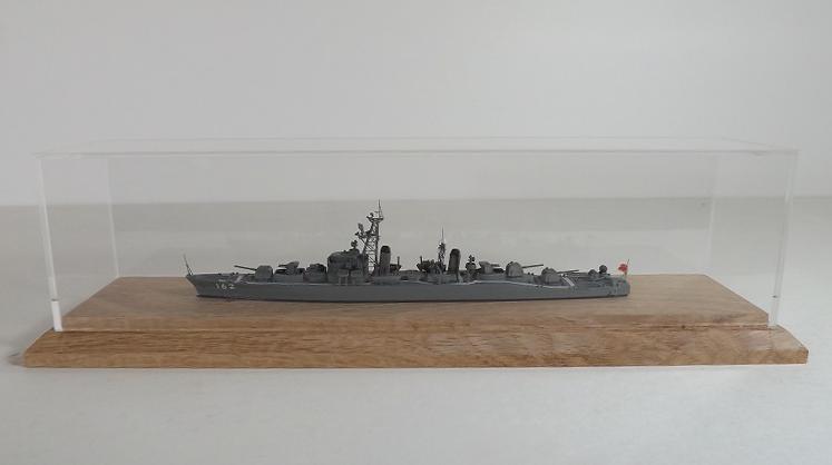 1/700艦船模型小型クラスWideMuseumケース(艦全長230mm迄用ホワイトオーク15mm仕様)洋上モデル専用