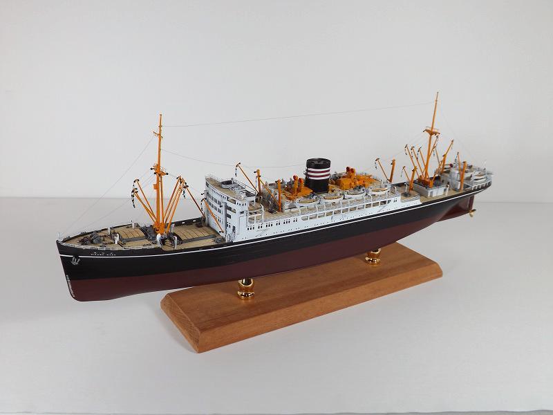 1/350日本郵船氷川丸フルエッチングモデル完成品Y.魚鱗スケールモデル工房作