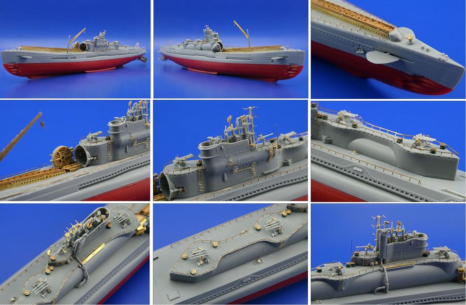 伊400,潜水艦,1/350,エッチング,エデュアルド