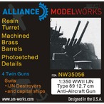 WWII IJN Type 89 12.7cm 高角砲セット