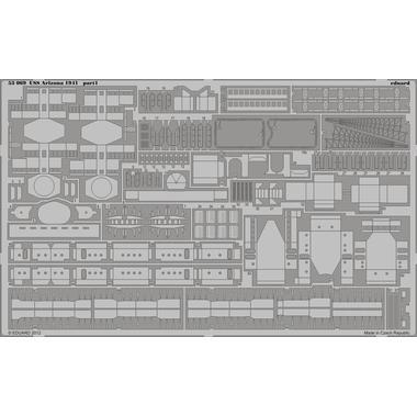 エデュアルド1/350戦艦アリゾナ(ホビーボス専用)基本エッチングと手すりエッチングUSNセットセラーエッチング2枚付き