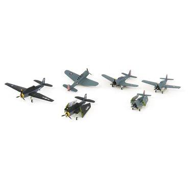 1/350アメリカ海軍艦載機前期セット2(E4Fヘルキャット・TBFアヴンジャー・SBDドーントレス各3機在中