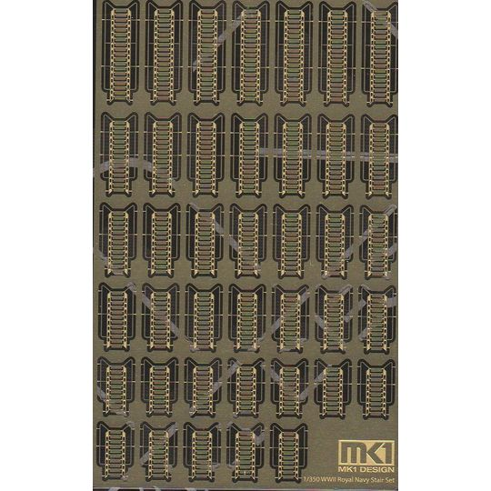 1/350,英国海軍,ラッタルセット,エッチング,KAモデル